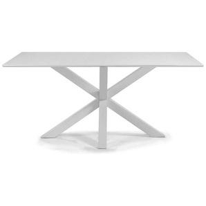 Weiß Esstisch aus Stahl modern