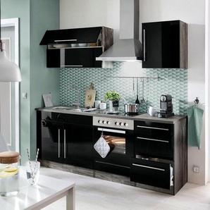 HELD MÖBEL Winkelküche »Samos«, ohne E-Geräte, Stellbreite 230 x 170 cm, schwarz