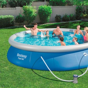 BESTWAY Set: Quick-Up Pool »Fast Set™«, mit Filterpumpe, ØxH: 457x84 cm