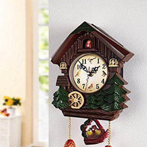 Kuckucksuhr Kuckucks Uhr Wanduhr braun Kunststoff 6364306