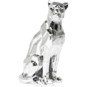 Deko Figur Sitting Cat Rivet Chrom