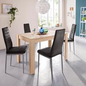 Esstisch »Lynn«, Breite 120 cm und 4 x Stuhl »Kate«