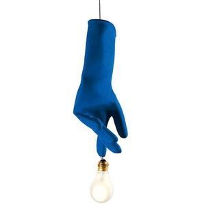 LED-Hängeleuchte Luzy blau, Designer Ingo Maurer, 50x25x25 cm