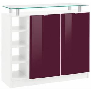 Borchardt Möbel Kommode, »Dolly« Breite 97 cm mit Glasablage, weiß