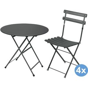 Emu Arc En Ciel Gartenset 80 Tisch + 4 Stühle