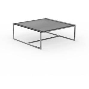 Beistelltisch Rauchglas Schwarz satiniert - Eleganter Nachttisch: Hochwertige Materialien, einzigartiges Design - 81 x 30 x 81 cm, Komplett anpassbar