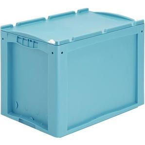 BITO-Lagertechnik Kleinladungsträger KLTD mit Deckel / KLT 64420ASDV 600x400x420 türkis Auflagedec