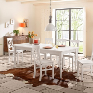 Home affaire Essgruppe »Merida«, 110/68cm & 4er-Pack Stühle, FSC®-zertifiziert