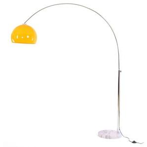 Bogenlampe LOUNGE DEAL II Stehleuchte, chrom ~ orange, 180cm
