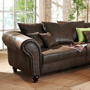 Home affaire Big-Sofa »BigBy«, braun, Microfaser