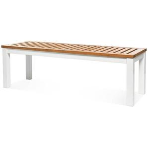 Sitzbank Eukalyptus, Fsc® 100%, L:130cm x H:42cm, weiß/natur