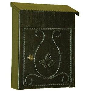Lorenz Ferart 6007.0Briefkasten Post, Schmiedeeisen, basistruktur schwarz Hand Silber