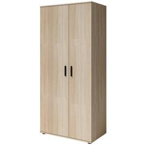 Jugendzimmer - Drehtürenschrank / Kleiderschrank Egio 01, Farbe: Eiche - Abmessungen: 199 x 90 x 52 cm (H x B x T)