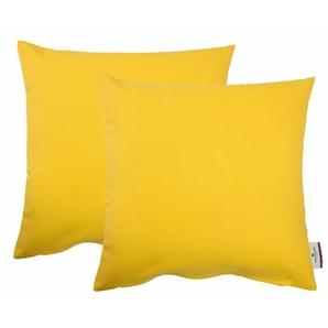 Tom Tailor Kissenhülle »Dove«, 2x 38x38 cm, pflegeleicht, gelb, blickdichter Stoff