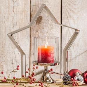 Kerzenleuchter ,silber ,Aluminium