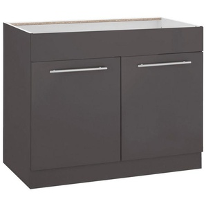 wiho Küchen Spülenschrank »Flexi2« Breite 100 cm, grau