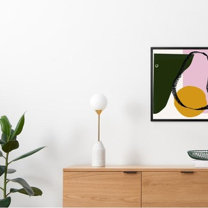 Abstract Pears by Kitty Lambton gerahmter Kunstdruck (50 x 50 cm), Mehrfarbig