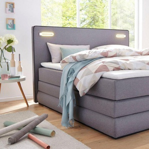 COLLECTION AB Boxspringbett »Rubona«, inkl. Bettkasten, LED-Beleuchtung und Topper