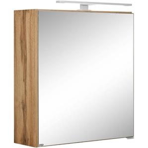 Spiegelschrank mit LED Beleuchtung, weiß, »Davos«, Held Möbel