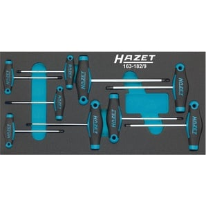 HAZET Schraubendreher-Satz mit T-Griff 163-182/9 - Innen TORX® Profil - Anzahl Werkzeuge: 9
