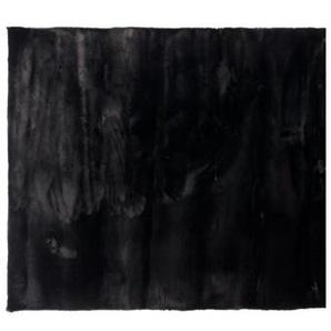 Hochflorteppich DREAM Ø 80 cm schwarz