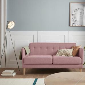 Andas 2 Sitzer »Raadal«, rosa, B/H/T: 161x43x56cm, hoher Sitzkomfort