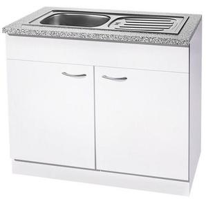 wiho Küchen Spülenschrank »Kiel« 100 cm breit, weiß