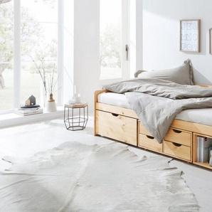 Home affaire Multimediabett »Nils«, mit 5 Schubladen und einem Fach, Liegefläche: 90/200, beige