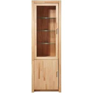 Carryhome: Vitrine, Glas, Holz,Kernbuche, Buche, B/H/T 65,8 203,5 40
