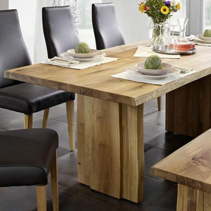 Baumtisch 160x90cm Amber Wildeiche massiv