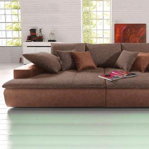 Nova Via Big Sofa, braun, Inkl. loser Zier- und Rückenkissen, FSC®-zertifiziert