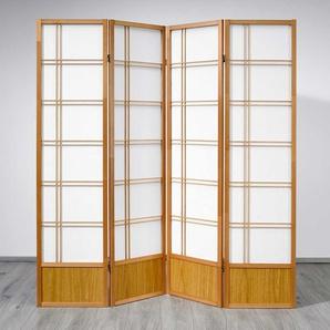 Raumteiler in Weiß Buche Massivholz