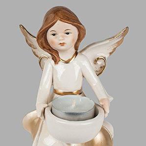 Klp Engel Teelichthalter Porzellan Schutzengel Weihnachts Deko Figur Skulptur Statue