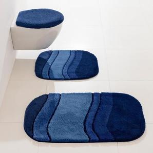 Badgarnitur, blau, Gr. 60/100 cm, Kleine Wolke, Material: Polyacryl