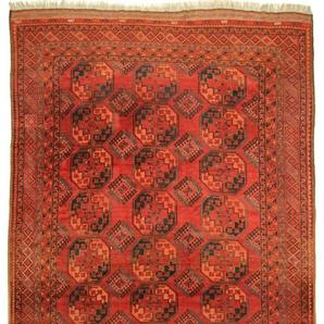 Orientteppich Afghan Akhche Antik 362x281 Handgeknüpfter Teppich