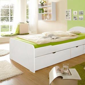 Ticaa Bett »Erna«, Liegefläche 100x200 cm, weiß