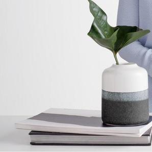 Peder grosse Vase, Schwarz und Weiss