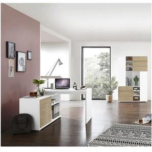 Möbel-Set »Paseo« 2-teilig, Kompaktschreibtisch Wangenfuß eiche, Germania-Werke