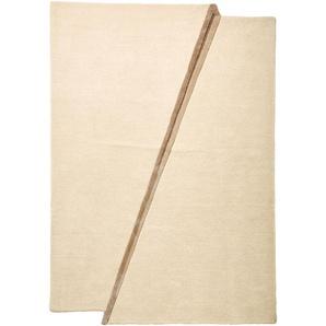 Hochflorteppich uni Farbe, weiß, Gr. 160/230 cm,  home, Material: Wolle, Viskose