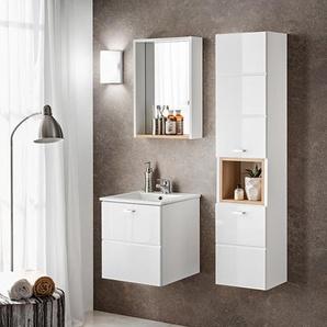 Finka Gästebad 4-teilig in Weiß, Waschtisch 40 cm