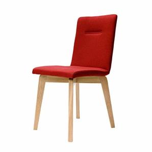 Stuhl in Rot Stoff Eiche Bianco