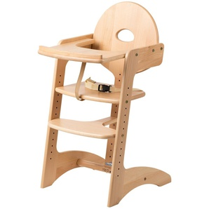 Treppenhochstuhl   Filou | holzfarben | Buche massiv | 45 cm | 91 cm | 49,4 cm | Möbel Kraft