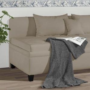 Bettsofa mit oder ohne Matratze 90x200 cm beige - Kamina