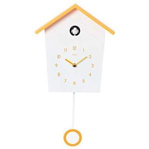 Cuco Clock Kuckucksuhr Landhaus mit langsamen Pendel Wanduhr Design Uhr modern Pendeluhr Holz Kuckuck Zeit Chronometer