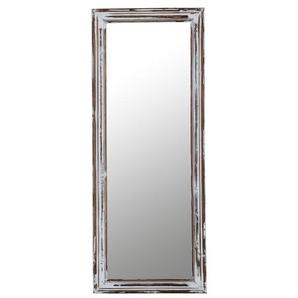 INTERhome Spiegel CREASE Tanne teilmassiv/Weiß lackiert ca. 39 x 98 x 4 cm