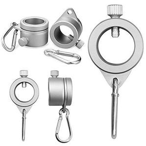 Fahnenmast-Ringe, Aluminium, drehbar um 360 Grad, Flaggenmast, Montageringe, mit Karabiner für einen Durchmesser von 1,9-2,6 cm