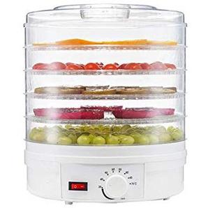 Dehydrator-Zahnstange des Lebensmittel-Dehydrator-5 Behälter, für machen Dörrfleisch-gesunde Snäcke Dörrobst, elektrische Entwässerungs-Nahrungsmittelkonservierungs-Maschine