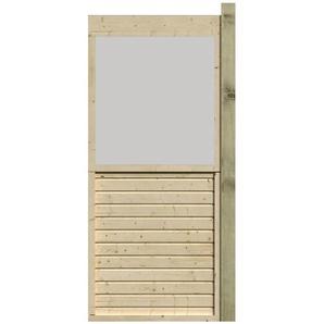 Flachdachpavillon Element, halb geschlossen, 88 cm, naturbelassen
