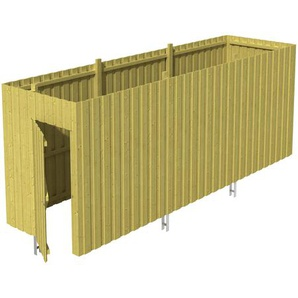 SKANHOLZ Skan Holz Abstellraum A5 für Carports 573 x 220 x 164 cm