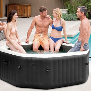STEINBACH Set: Whirlpool »PureSpa™ Octagon Bubble Jet«, 5-tlg., ØxH: 201x71cm, mit Salzwassersystem